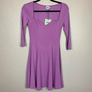 NEW ASOS Skater Fit & Flare Dress Purple Size 6